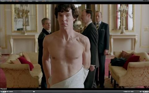 Who stepped on Sherlock's sheet while he was at Buckingham Palace?