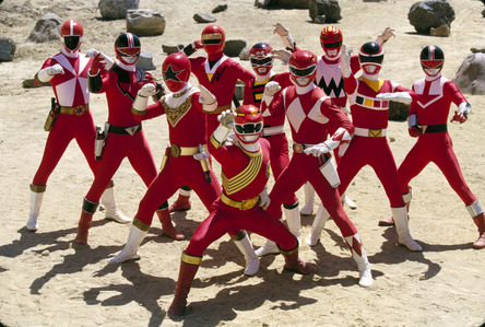 Which Red Ranger does NOT appear in the Power Rangers Wild Force episode Forever Red?