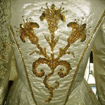 This is a detail from who's wedding dress?