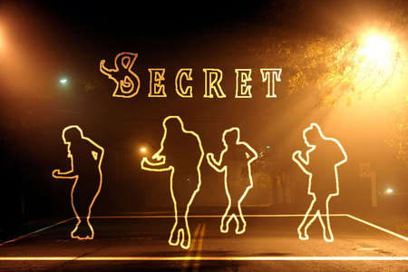 In this silhouette, what song is SECRET dancing to?