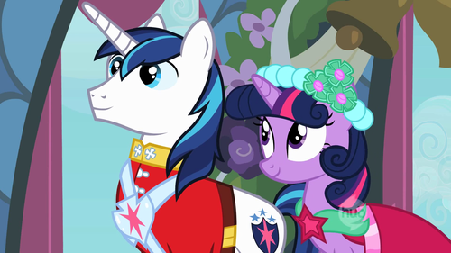 Shining Armor and Twilight Sparkle are: