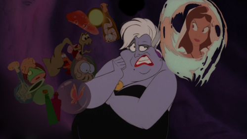 What potions are used in order for Ursula to transform into Vanessa?