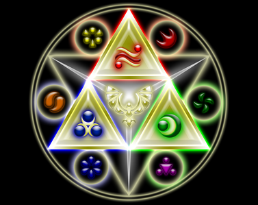 Who has the triforce of wisodom in OOT?