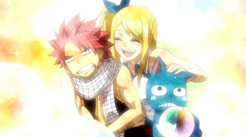What did Natsu do for Lucy when she was too sick to go to the Hanami Party?