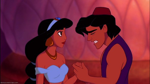 "Give the movie response: ""Jasmine, I'm sorry I lied to you about being a prince."""