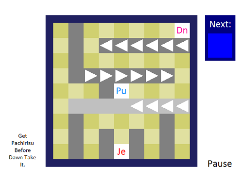 Dn, Pu, and Je is the shorts of... (Hint: Text at down-left position of image.)