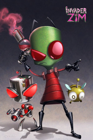 Was Zim Born From irken or From glass Tank