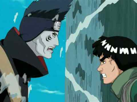 How many times do Guy and Kisame met in a battle?.