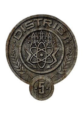 what is symbol of district 5 the hunger games trivia