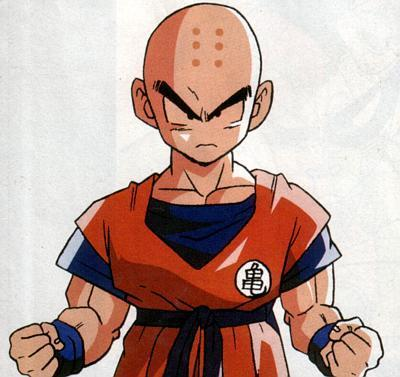 Why Did Krillin have six marks on his head?