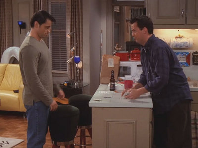 Who tore apart the fooseball table that Chandler and Joey loved so much?