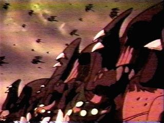 In Tekkaman Blade, the main antagonists were aliens known as Radam