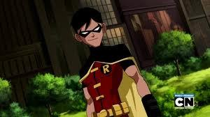 Who is Robin / Dick Grayson with?