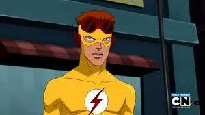 Who is Kid Flash / Wally West with?