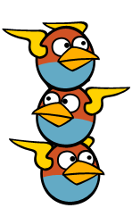 What are the Blue Birds also known as (other than The Blues) in Angry Birds Space?