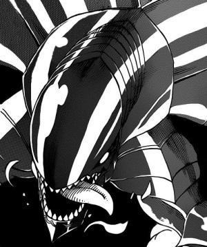 What is the name of Gajeel's dragon foster father?