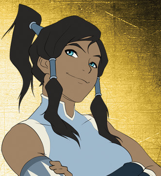What color is Korra's hair?