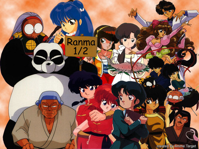 True or False, Ranma 1/2 was aired before InuYasha.