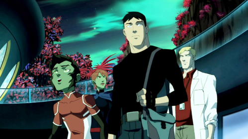 "What planet did Miss Martain, Superboy, and Beast Boy go to in ""Happy New Year""?"