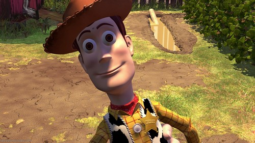 T/F: Woody is the only Pixar protagonist who does not have blue eyes. 