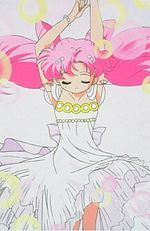 who did rini(chibiusa)said she was when introduced herself to Serena's family