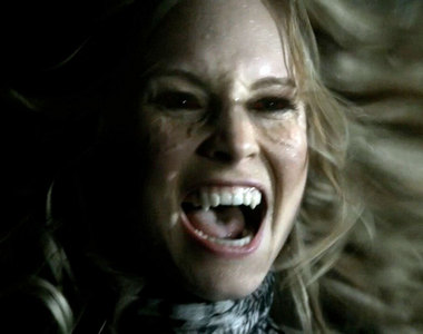 where was caroline when she first drunk human blood ?