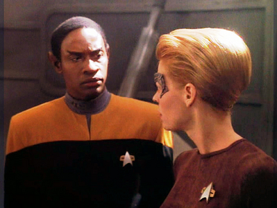 NAME THE EPISODE: Tuvok pursues Seven into hostile space & they find the ship in which Seven's parents travelled to the Delta Quadrant,the place where she was assimilated