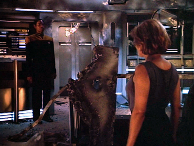 NAME THE EPISODE:While Chakotay&Paris work on the Krenim ship to stop any further temporal incursions, Janeway seeks allies to help rescue her crew & restore the timeline