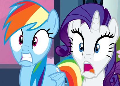 Why do Rainbow and Rarity look like this?