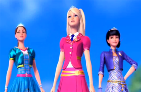 Who are standing with Barbie?