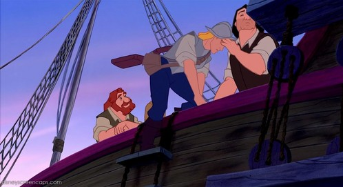 Who comes out of the ship right after John Smith?