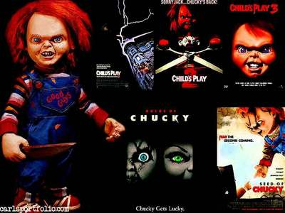 In Childs Play 1, Brad/Chucky says: Auday duay dumbalar. Give me the power??? What's missing?
