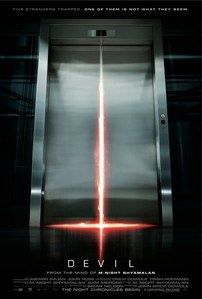 In the 2010 movie DEVIL, how many people are trapped in the lift?