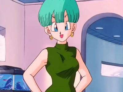 What color was Bulma's hair as a girl