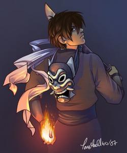 The Blue Spirit is Zuko's alter ego.