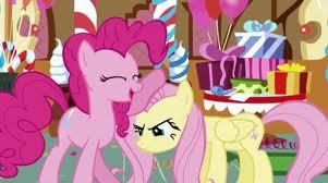 How many years older is fluttershy than pinkie pie?