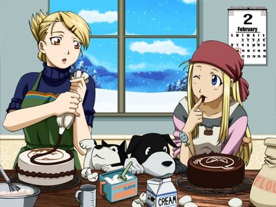 Who taught Winry how to make apple pie?