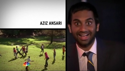 What episode is Aziz Ansari's second intro clip from?