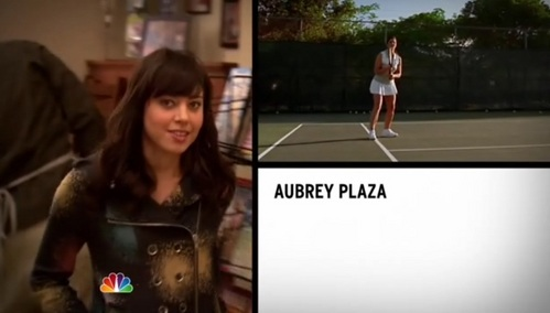 What episode is Aubrey Plaza&#39;s second intro clip from?
