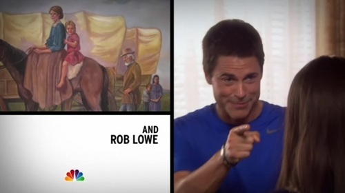 What episode is Rob Lowe's first intro clip from?
