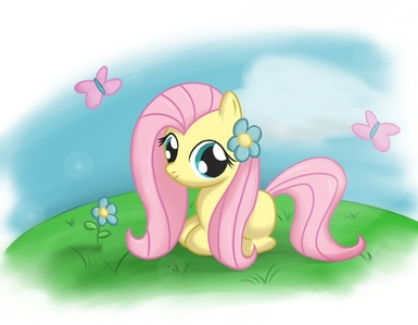 was fluttershy cute as a filly?