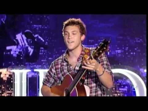 What two songs did Phillip sing at his audition for American Idol?