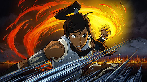 Besides air what element has Korra barely used
