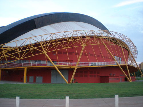 In what city we can see this gymnasium?