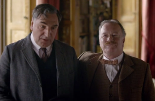 In Season 1 episode 2, we learn prior to his job as a butler at Downton, Carson performed on the stage. What did he and his partner call themselves?