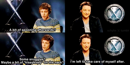 James McAvoy zei he had sex with Michael how many times?