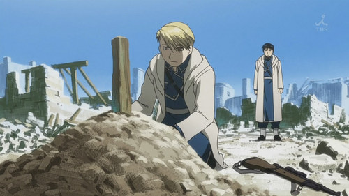 Who Does Riza Bury At The End Of The Ishvalan War?