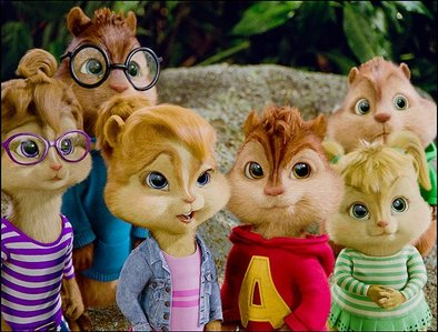 Which chipmunk and chipette are the oldest of their fellow brothers/sisters and are in love?