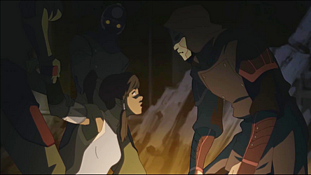 Korra challenges Amon to a duel to which place?