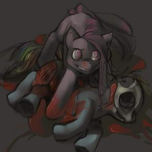 In Cupcakes, Pinkie used whose skull to mock 虹 Dash?